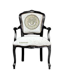 Fauteuil cabriolet classique , fauteuil classique, fauteuil de style, fauteuil louis xv, fauteuil rembourré, fauteuil sculpté.